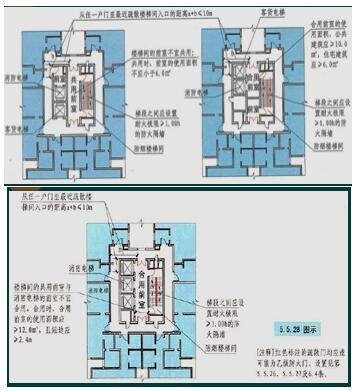 塔式住宅确有困难时可设置一个前室,但两座楼梯应分别设加压送风系统.