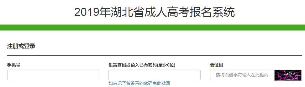 2020年湖北省成人高考本科报名入口