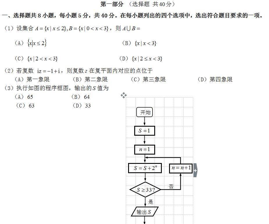 2018年高考理科数学模拟试题及答案(10)