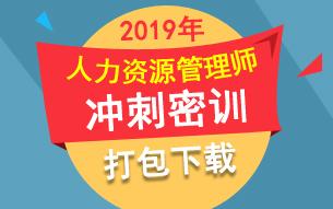 2019年人力资源管理师密押试题冲刺提分