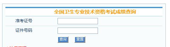 中国卫生人才网主管护师成绩查询时间