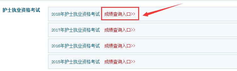中国卫生人才网2019年河北护士资格证成绩查询官网