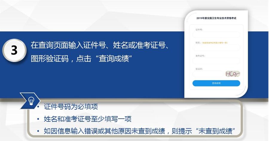 中国卫生人才网2019年初级护师成绩查询说明 3