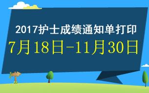 2017中国卫生人才网护士成绩单打印时间及入口专题