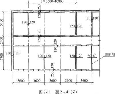某四层砌体结构房屋,平面尺寸如图.