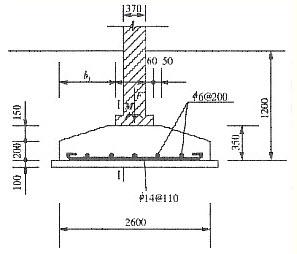 某承重墙下条形基础,埋置深度为1,2m,底宽2,6