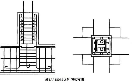 高层钢结构框架柱的柱脚采用埋人式柱脚(见图ia413035-1)或外包