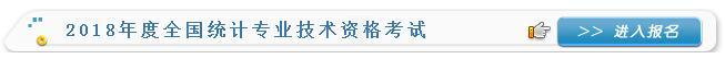 2018年上海统计师报名入口