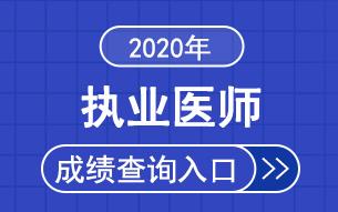 2020全国执业医师综合笔试考试成绩查询时间|入口