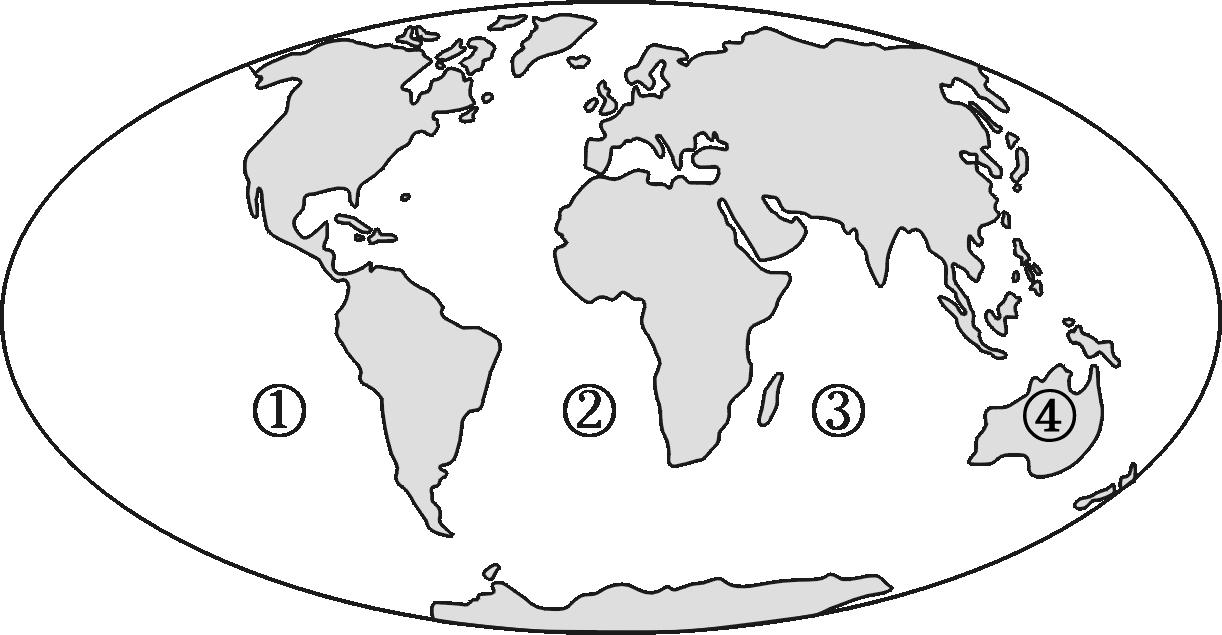 亚洲地形图儿童手绘